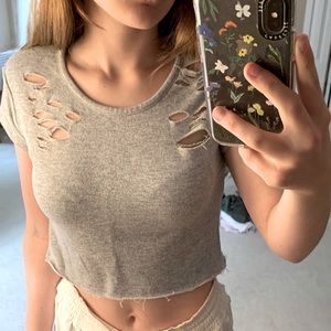 Ripped Crop Top